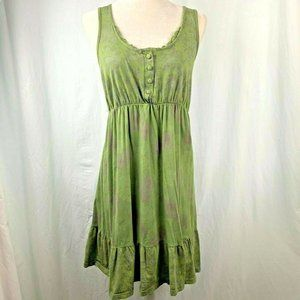 Curious Gypsy Tank Top Dress M Green Floral